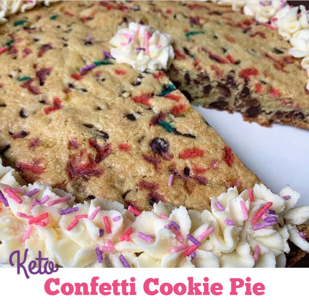 Keto Confetti Cookie Pie
