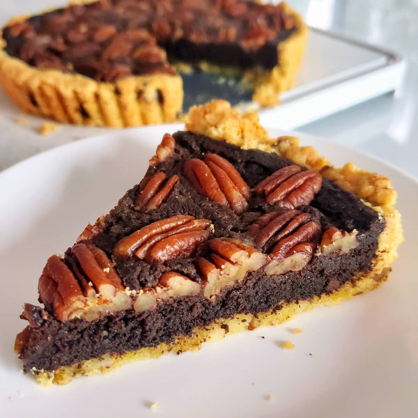 Pecan fudge magic pie