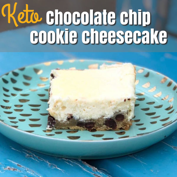 Keto Chocolate Chip Cookie Cheesecake