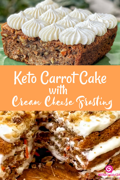 KetoCandyGirl Carrot Cake with Cream Cheese Frosting