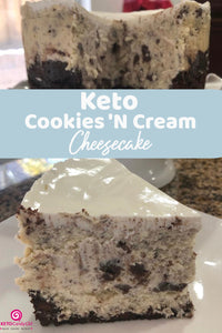 Keto Cookies 'N Cream Cheesecake