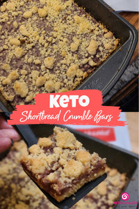 Keto Shortbread Crumble Bars