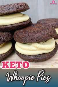 Keto Brownie and Peanut Butter Whoopie Pie