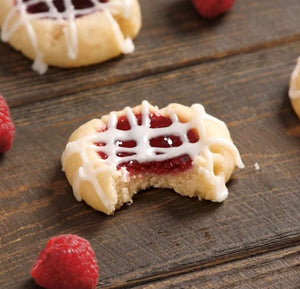 Keto Raspberry Thumbprint Cookies