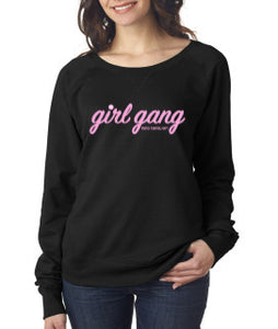 Lightweight Slouchy Crewneck Sweatshirt - Black