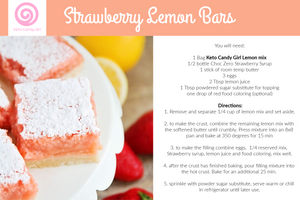Strawberry Lemon Bar Kit (Makes 2 batches)