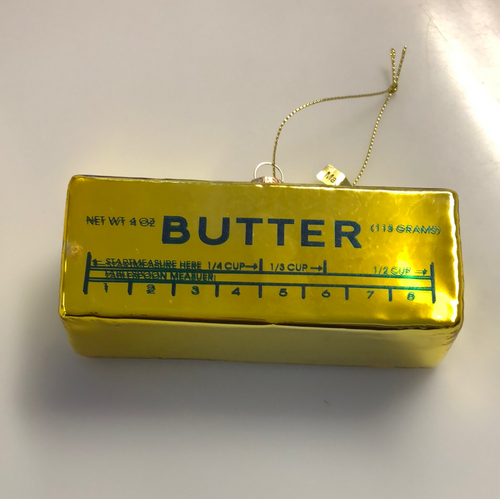 Butter Glass Ornament