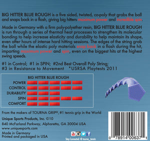 Tourna Poly Big Hitter Blue Rough String 17