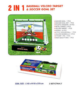 Baseball Velcro Target and Soccer Set