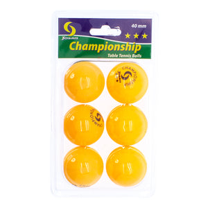 Josan 6-pack Championship 40mm Table Tennis Balls