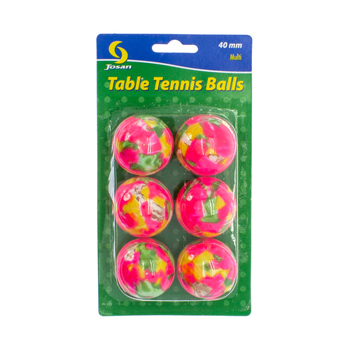 Josan 6-pack Multi Table Tennis Balls
