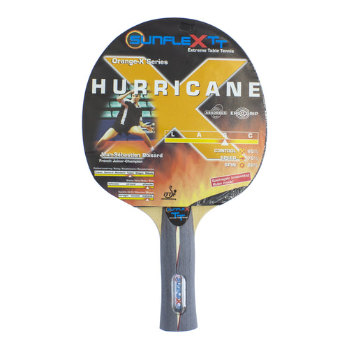 Sunflex HURRICANE Orange-X Series Table Tennis Bat