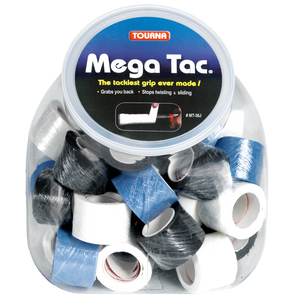 Jar of 36 Mega Tac Rolls Tacky Grip White