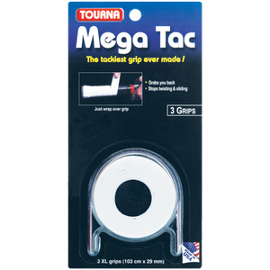 Mega Tac 3-Pack USA Tacky Grip White