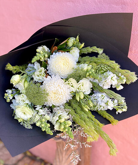 Wrapped Bouquet 'Serene' - Haven Botanical - byron bay