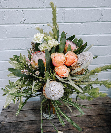 Soft and Romantic Native Bouquet - Haven Botanical - byron bay