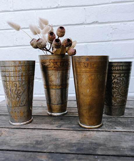 Vintage Indian Lassi Cup - Haven Botanical