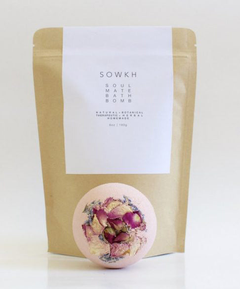 Soul Mate Bath Bomb - Haven Botanical - byron bay
