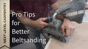 A properly wielded belt sander is the best solution for many sanding tasks