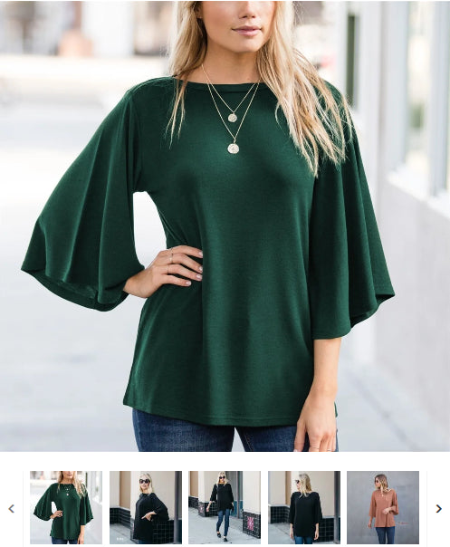 Order Here—> Cute Boatneck Flutter Sleeve Top for $16.99 (was $29.99) 2 days only.