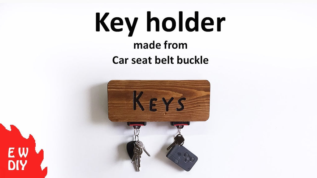How to make a key holder from a car seat belt buckle!!