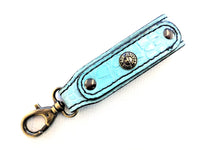 Belt Hanger Key Fob - Robin's Egg Blue Alligator - Anvil Customs