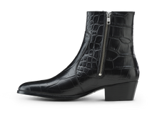 Load image into Gallery viewer, Zimmerman Zip Boot - Black Croco - Everyday Hero