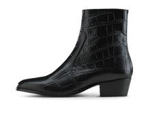 Load image into Gallery viewer, Zimmerman Zip Boot - Black Croco