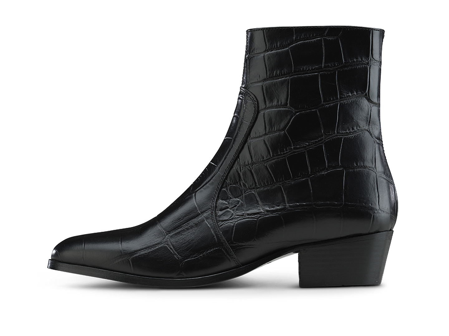 Zimmerman Zip Boot - Black Croco - Everyday Hero