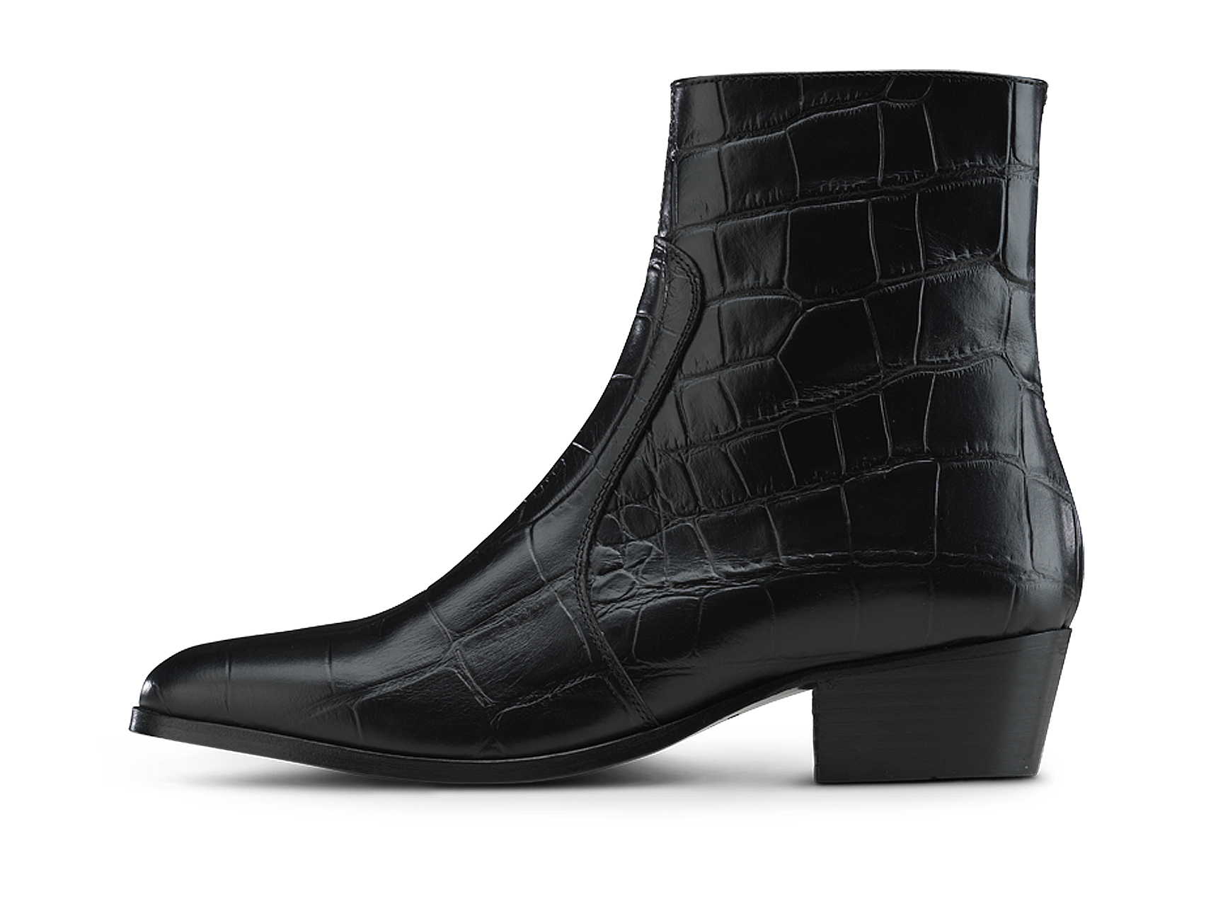 Zimmerman Zip Boot - Black Croco