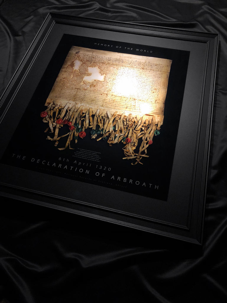 The DECLARATION OF ARBROATH - GOLD metallic print editions - Black Onyx... Now Available to order!