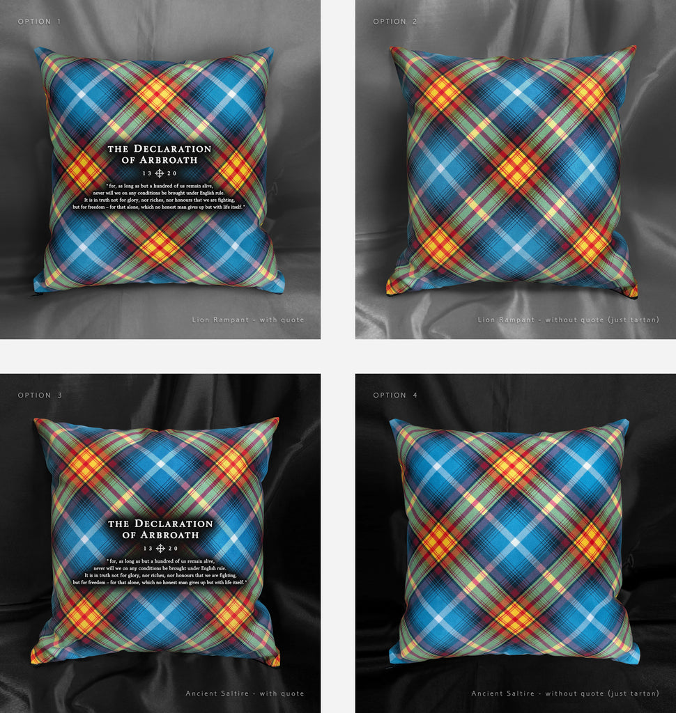 Declaration of Arbroath Tartan Cushions