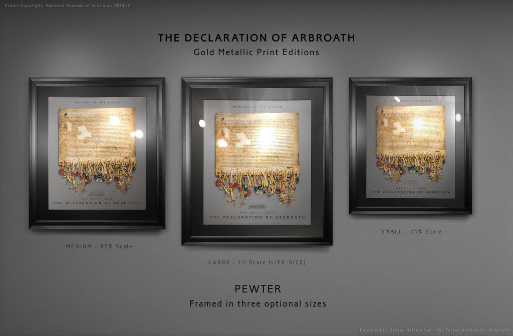 The Declaration of Arbroath GOLD METALLIC EDITIONS - PEWTER