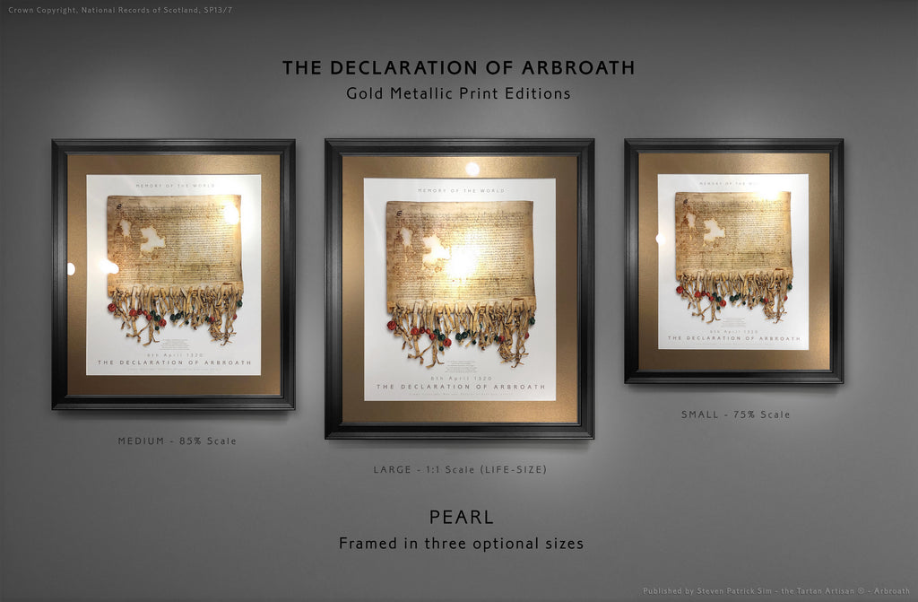 The Declaration of Arbroath GOLD METALLIC EDITIONS - PEARL