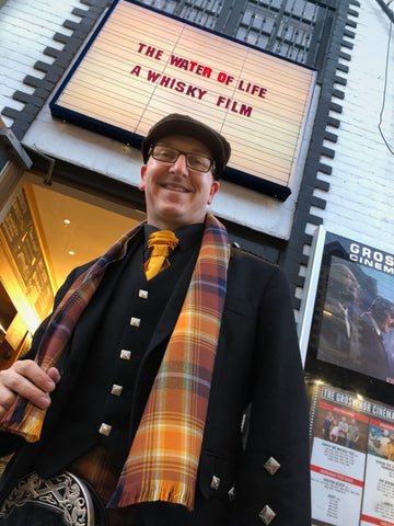 Steven Patrick Sim, the Tartan Artisan ...At the Water of Life preview wearing the Angels' Share Scotch Whisky Tartan®