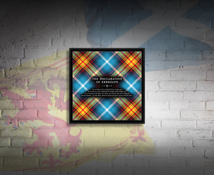 The Declaration of Scottish Independence tartan Canvas art