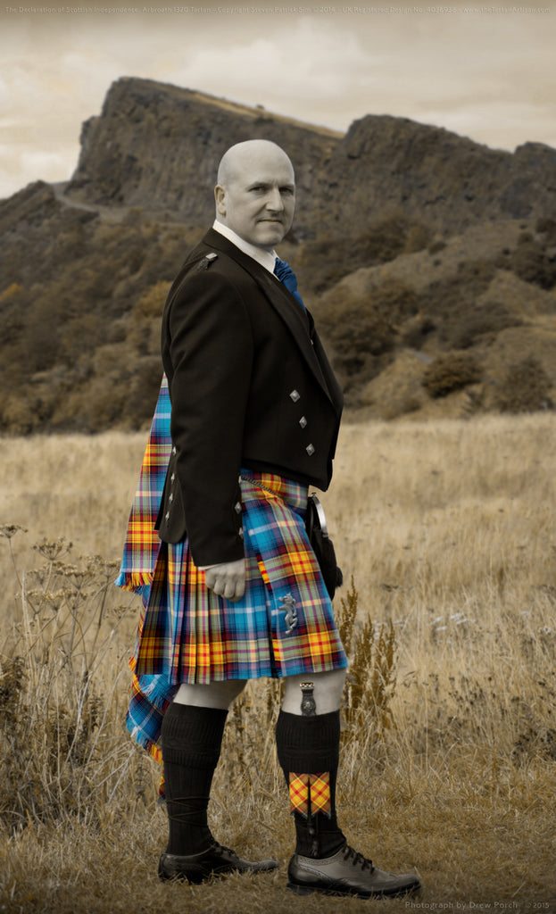 The Tartan Artisan Steven Patrick Sim at Arthur's Seat, Edinburgh