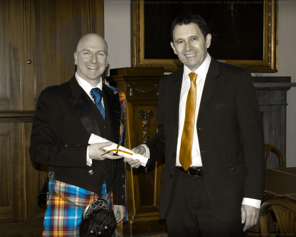 Steven Patrick Sim at the Scottish Register of Tartans, Edinburgh