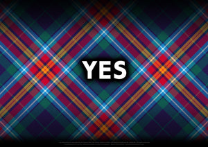 Created by Steven Patrick Sim the Tartan Artisan®, the YES tartan