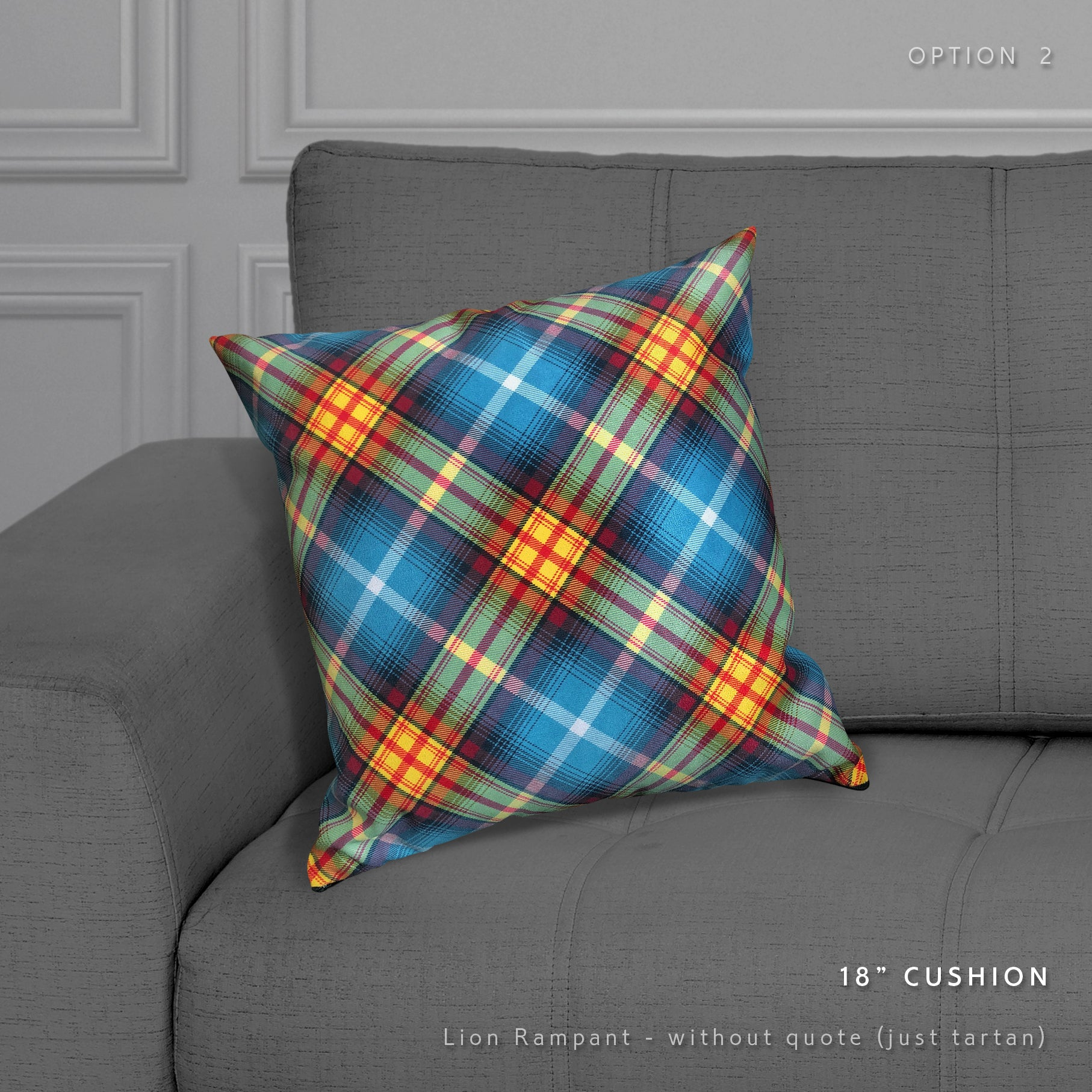 The Declaration of Arbroath Ancient Saltire tartan cushion