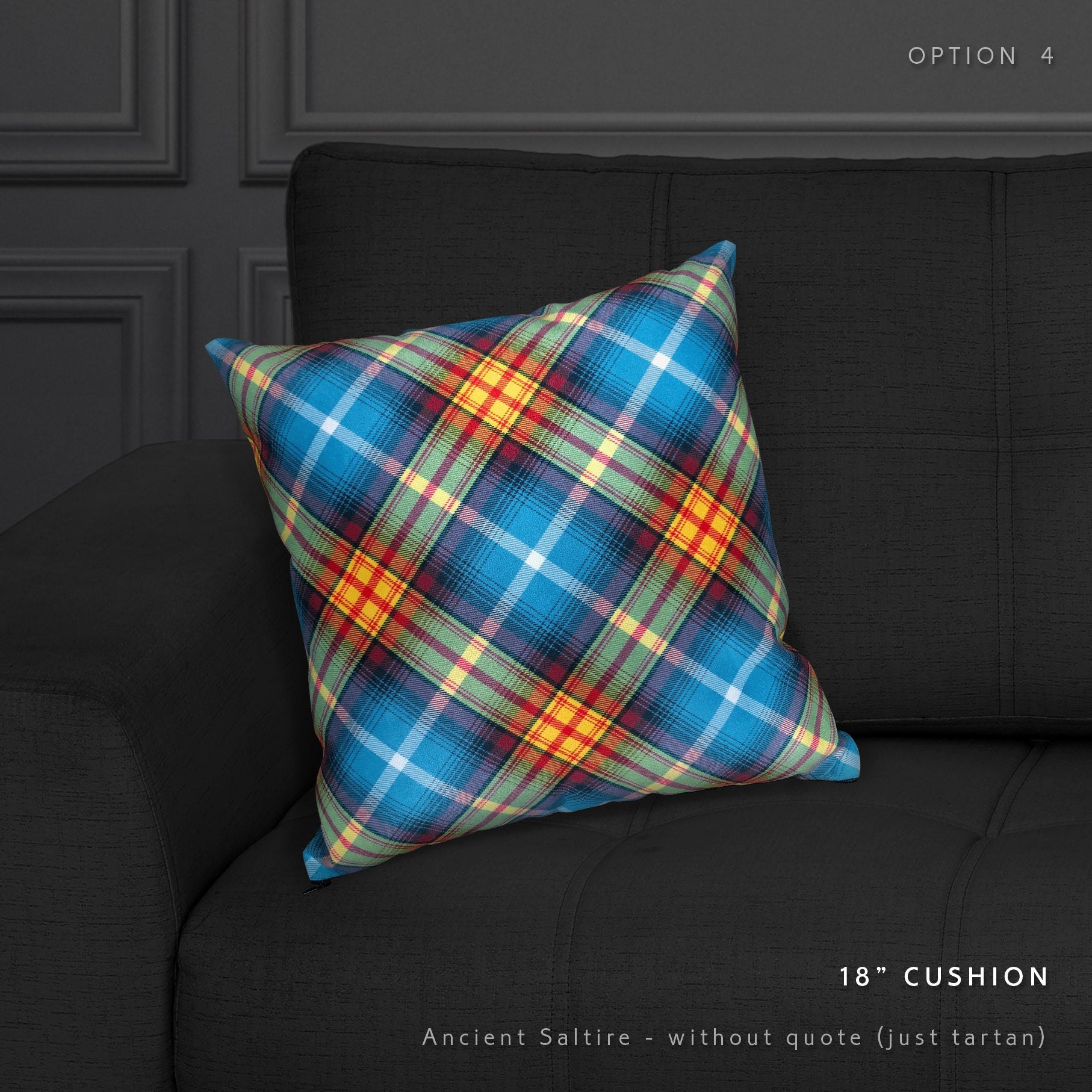 Steven Patrick Sim's Declaration of Scottish Independence tartan cushion