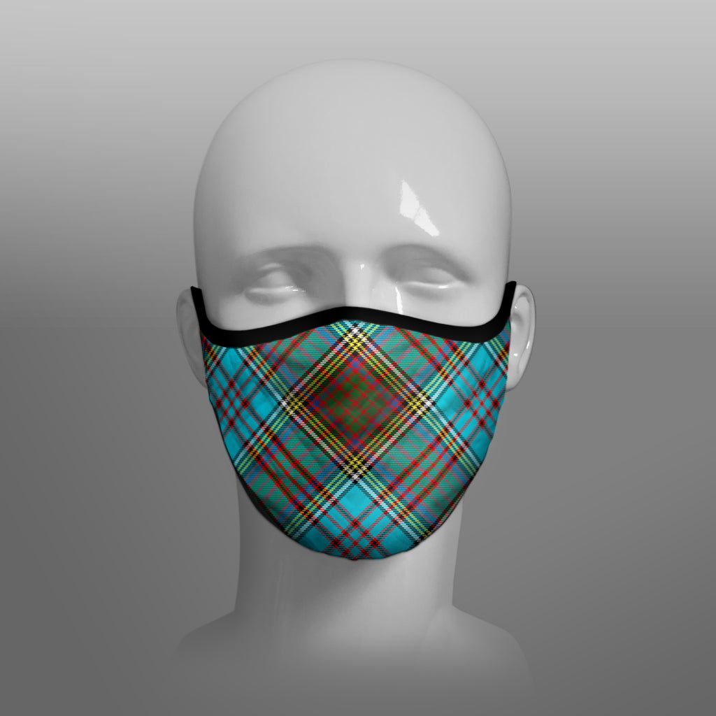 Anderson Ancient Tartan custom face mask by Steven Patrick Sim the Tartan Artisan - Stevie Tartan Guy - Arbroath