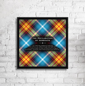 "Ancient Saltire - Declaration Tartan 16"" Framed Canvas"