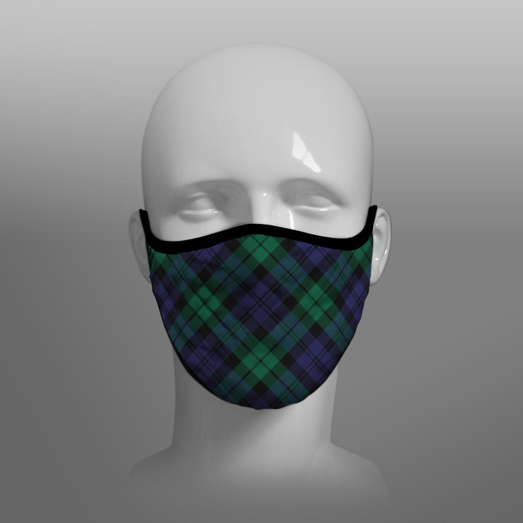 Black Watch Tartan custom face mask by Steven Patrick Sim the Tartan Artisan - Stevie Tartan Guy - Arbroath