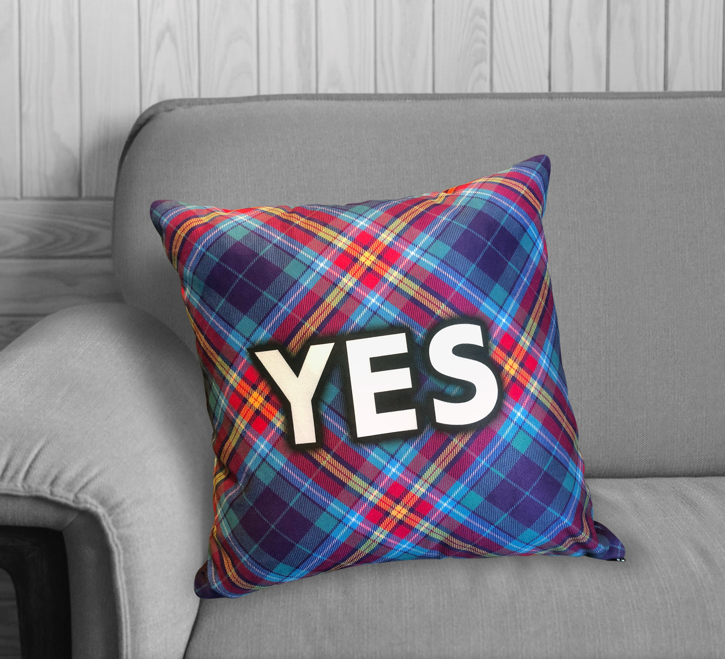 "YES Tartan by The Tartan Artisan - Alba gu bràth - 18"" Cushion"