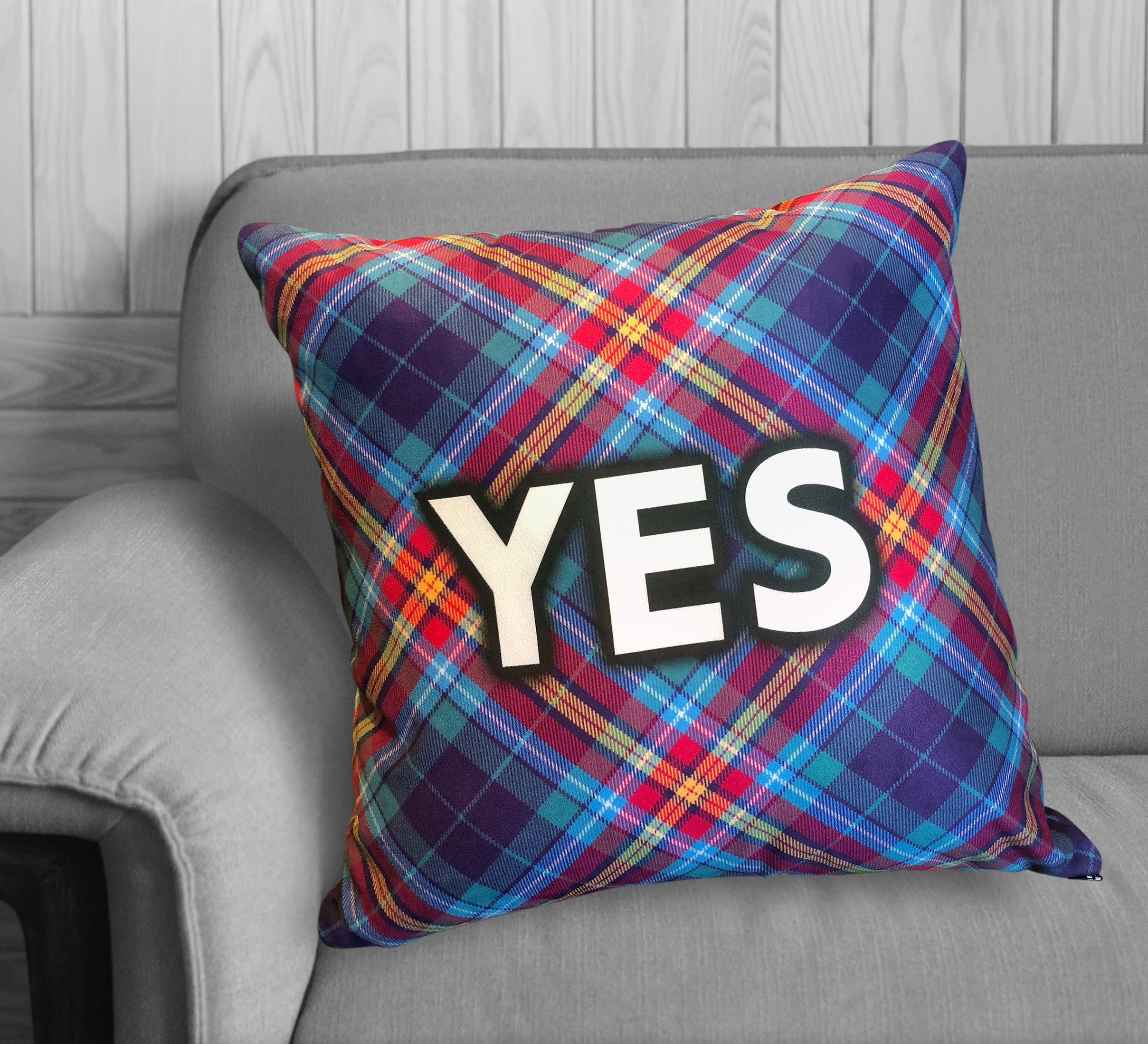 "YES Tartan by The Tartan Artisan - Alba gu bràth - 22"" Cushion"