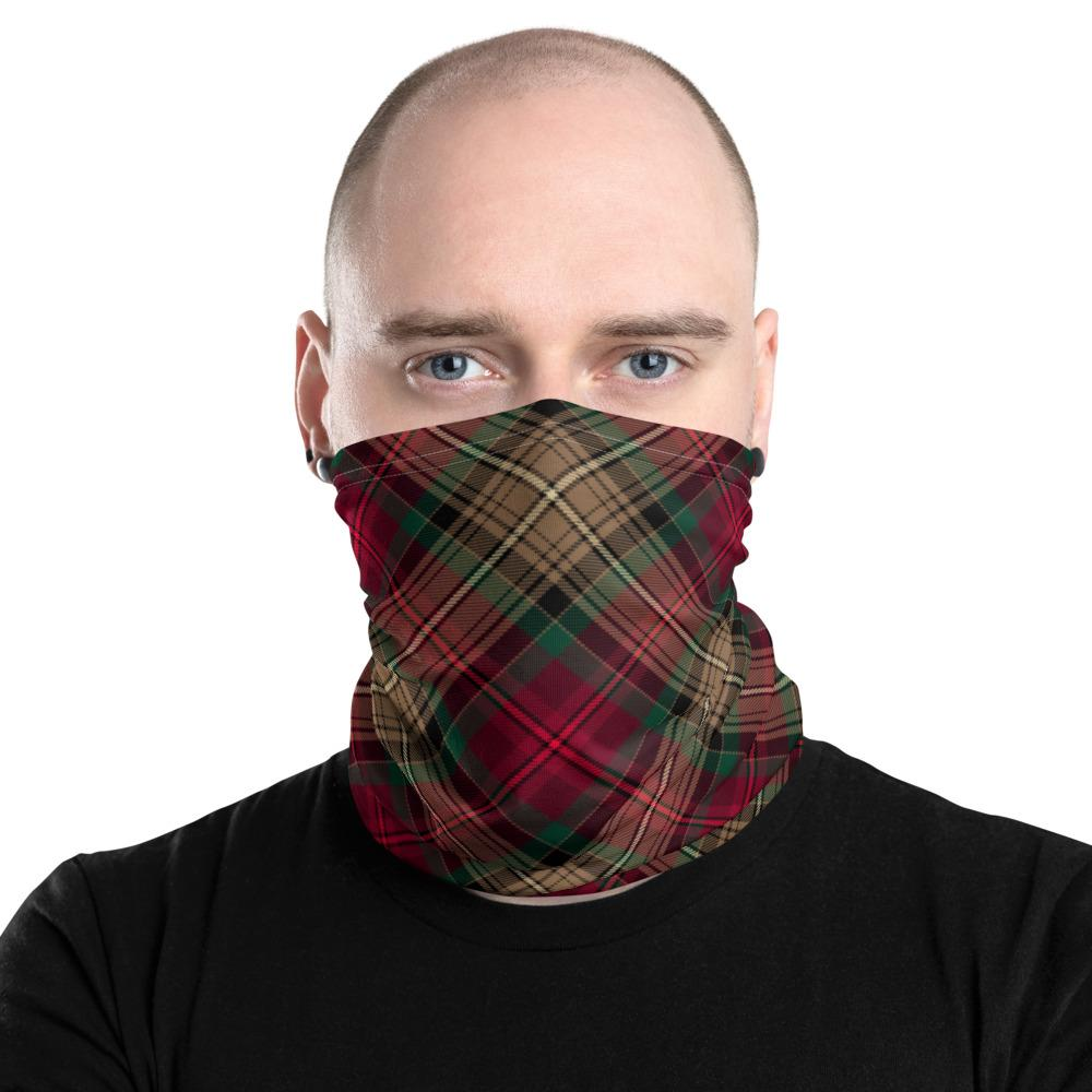 Declaration of Arbroath 7th Centennial Anniversary Tartan Neck Gaiter Snood face covering with filter Large Sett Pattern