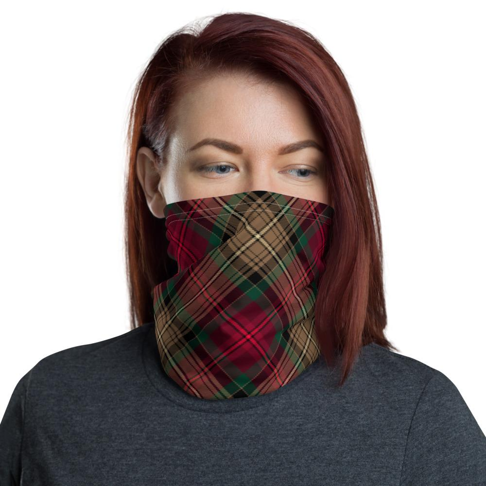 Declaration of Arbroath 7th Centennial Anniversary Tartan Neck Gaiter Snood face covering with filter Large Sett Pattern unisex