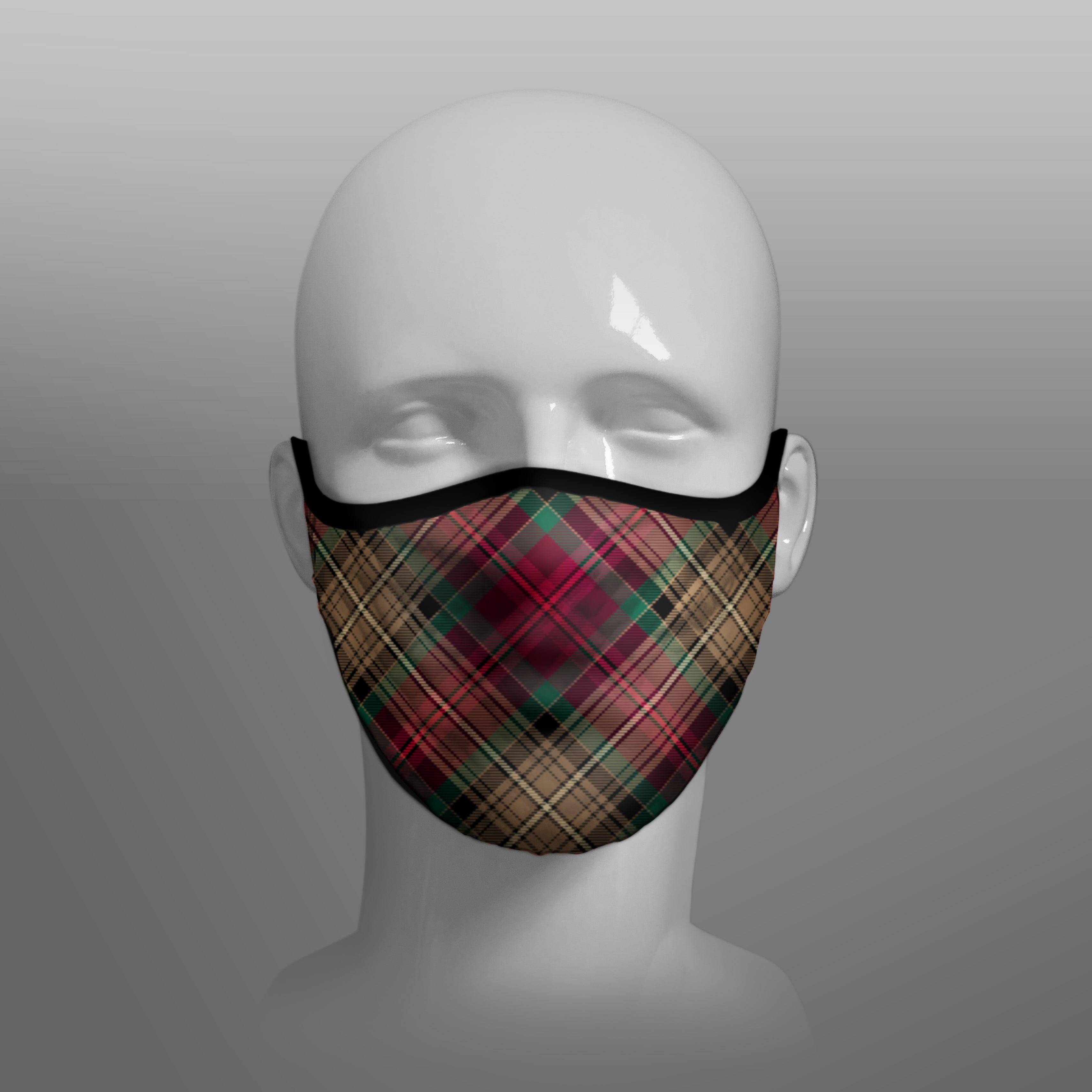 The Declaration of Arbroath 6th April 1320 700th Anniversary 7th Centennial Contoured Tartan - Scottish Saltire - Face Mask extra large