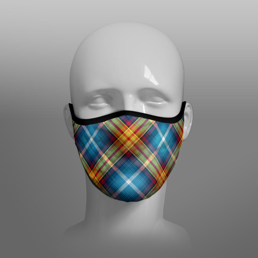 The Declaration of Scottish Independence Arbroath 6th April 1320 Contoured Tartan - YES IT'S TIME - Alba Gu Brath - Pro EU - European Union - Nicola Sturgeon - Scottish Saltire - Face Mask